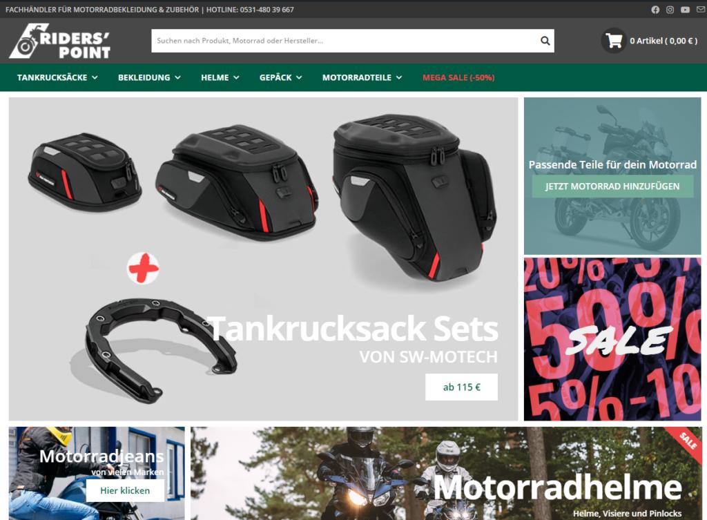 riderspoint-bs.de neuer Onlineshop im schicken Design